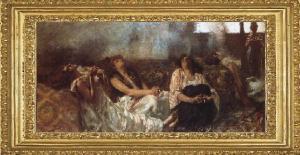 """""""Las Fumadoras de Hachís"""" de Gaetano Previati."""