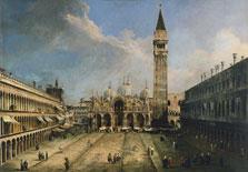 """""""La Plaza de San Marcos en Venecia"""", (1723-1724), Canalletto."""