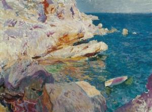 """Rompeolas de San Sebastián"", (1917), Joaquín Sorolla y Bastida."
