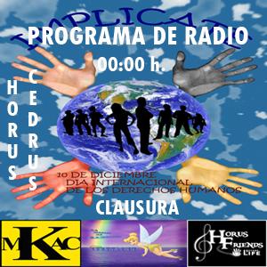 Cartel del programa radiofónico.