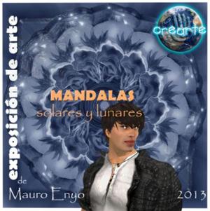 """Cartel de la exposición de Mauro Eryo, """"Mandalas. Solares y lunares""""."""