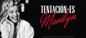 Poster de la exposición sobre Marilyn Monroe.