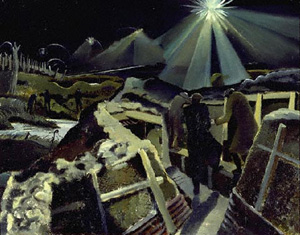 """The Ypres salient at night"", (1918)."