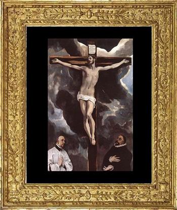 """""""Cristo crucificado con dos donantes"""", (1590, aproximadamente)."""