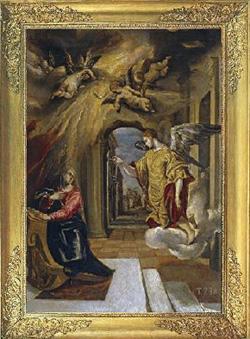 """""""La Anunciación"""", (1570)."""
