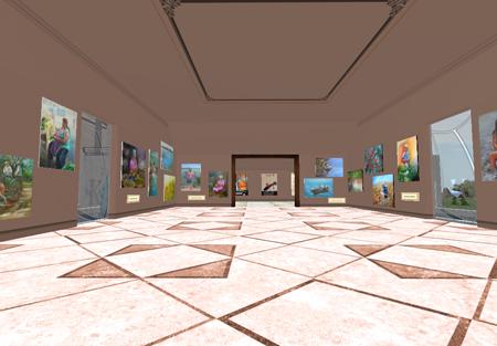 Fotografía de la Sala I del MKAC, durante la muestra de la artista Beatriz Holden.