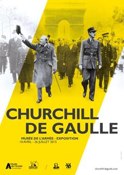 Cartel de la exposición, en el Museo del Ejército en París,