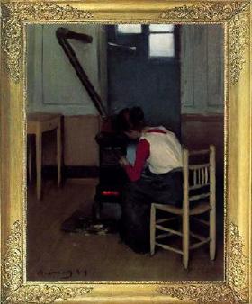 """""""Invierno"""" de Ramón Casas y Carbó, (1893)."""