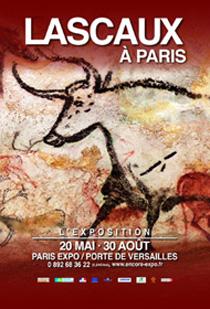 """Cartel de la exposición """"Lascaux en París""""."""