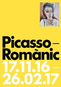 """Cartel de la exhibición """"Picasso. Románico""""."""