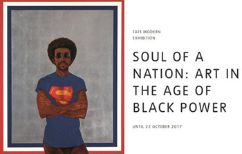 "Cartel de la muestra ""Soul of Nation: Art in the Age of Black Power""."