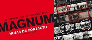 """Cartel de la exhibition """"Magnum: Hojas de Contacto""""."""