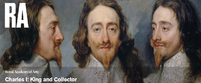"Cartel de la exhibición ""Charles I: King and Collector""."